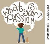 man employee seek a job and... | Shutterstock .eps vector #202302565