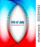 vector 4th of july independence ... | Shutterstock .eps vector #202304362
