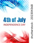 vector independence day for 4th ... | Shutterstock .eps vector #202304368