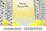 hello autumn landscape...   Shutterstock .eps vector #2023045925