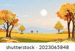 autumn rural landscape in... | Shutterstock .eps vector #2023065848