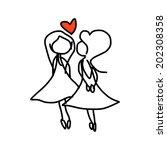 hand drawing cartoon concept... | Shutterstock .eps vector #202308358