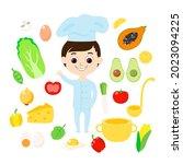 seth cook  vegetables  fruits... | Shutterstock .eps vector #2023094225