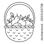 Vector Black And White Basket...