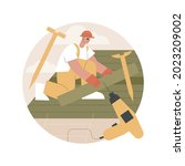 roofing services abstract... | Shutterstock .eps vector #2023209002