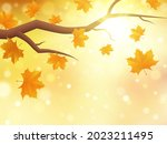 autumn background with branch...   Shutterstock .eps vector #2023211495