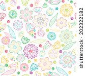 seamless floral pattern | Shutterstock .eps vector #202322182