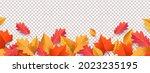 autumn seasonal background with ... | Shutterstock .eps vector #2023235195