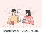 winter leisure activities and... | Shutterstock .eps vector #2023276208