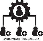 team management icon vector....   Shutterstock .eps vector #2023283615