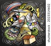 nepal cartoon vector doodle... | Shutterstock .eps vector #2023314602