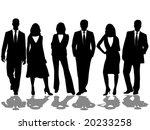 business team   Shutterstock .eps vector #20233258