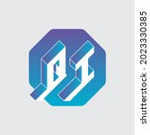 vector. three dimension letters ... | Shutterstock .eps vector #2023330385