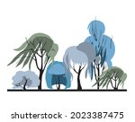 compositional group of trees... | Shutterstock .eps vector #2023387475