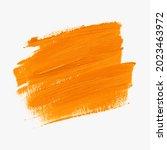 grunge orange oil paint brush... | Shutterstock .eps vector #2023463972