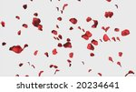 Stock photo  d rose petals falling useful for valentines and wedding backgrounds 20234641