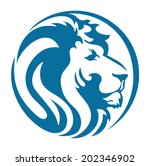 lion head blue