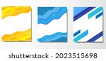 set of poster design with blue... | Shutterstock .eps vector #2023515698