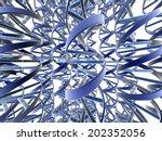 3d rendering of dna strands | Shutterstock . vector #202352056