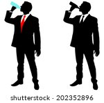 businessman drinking water ...   Shutterstock .eps vector #202352896