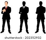 businessman clapping his hands  ... | Shutterstock .eps vector #202352932