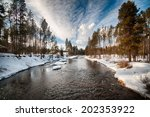 Montana Creek In Winter