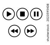 multimedia player button icon...   Shutterstock .eps vector #2023595408