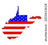 west virginia state map vector...   Shutterstock .eps vector #2023613618