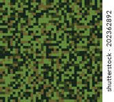 Pixel Green Seamless Camo