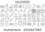 halloween thin black outline...