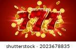 slot machine wins the jackpot.... | Shutterstock .eps vector #2023678835