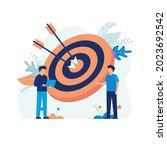 illustration concept of target... | Shutterstock .eps vector #2023692542