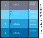 4 color flat design template  ...