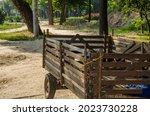 Old Vintage Village Cart Empty  ...