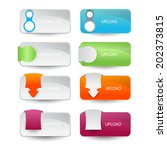 web buttons set | Shutterstock .eps vector #202373815