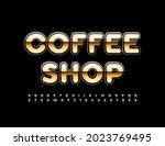 vector elite logo coffee shop.... | Shutterstock .eps vector #2023769495