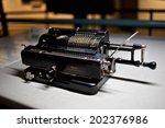 an image of hand powered... | Shutterstock . vector #202376986