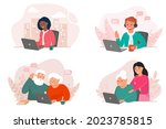 a set of people of different... | Shutterstock .eps vector #2023785815