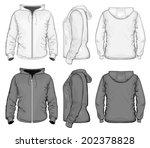 vector. men's hooded sweat...   Shutterstock .eps vector #202378828