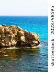 Mediterranean Sea Beach. White...