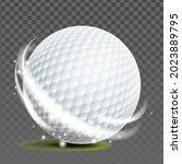 golf ball golfer sportive game...   Shutterstock .eps vector #2023889795