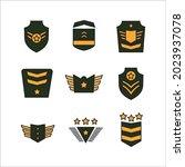military rank badge emblem... | Shutterstock .eps vector #2023937078