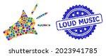 colorful mosaic sound speaker ...   Shutterstock .eps vector #2023941785