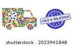 vibrant collage refrigerator... | Shutterstock .eps vector #2023941848
