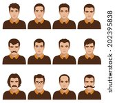 avatar people icon  man face... | Shutterstock .eps vector #202395838