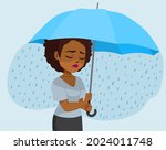 young black woman depressed... | Shutterstock .eps vector #2024011748