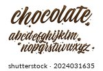 glossy alphabet made of melted... | Shutterstock .eps vector #2024031635