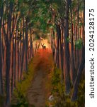 Forest Fire Oil Painting Embers ...