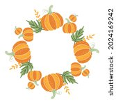 unusual decorative round frame... | Shutterstock .eps vector #2024169242