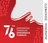 indonesian independence day.... | Shutterstock .eps vector #2024198372